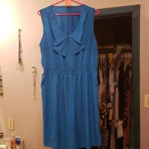 BE BOP BLUE SHORT DRESS PLUS SIZE 2X